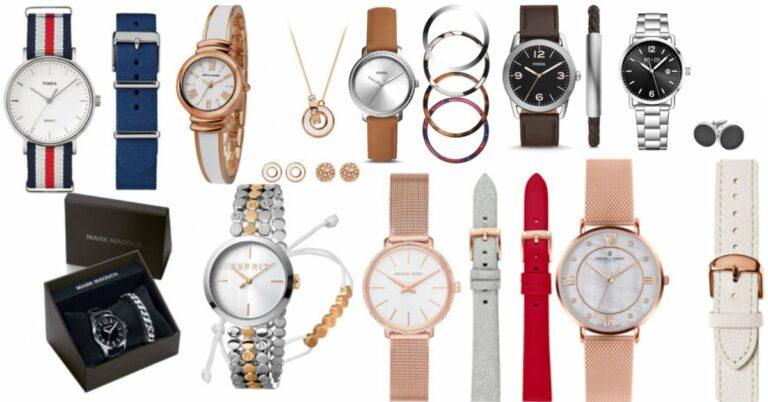 seturi de ceasuri în pachete cadou cu bijuterii curele de rezervă și alte accesorii