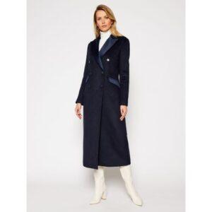 Palton lung Marciano Guess stil smoking bleumarin