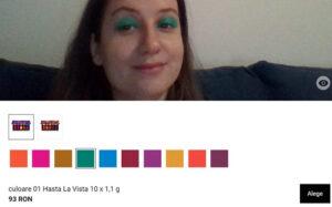 testare fard de ochi online din paletă farduri cu realitate asistată la Notino