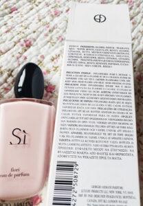apa de parfum Si Fiori de Giorgio Armani ingrediente