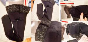 material și textură dresuri negre simple Marilyn 100 DEN