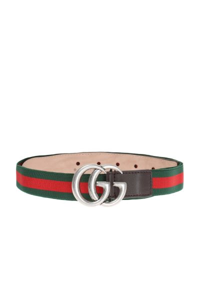 curea Gucci cu logo semnătură