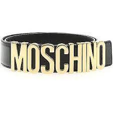 curea Moschino cu logo semnătură