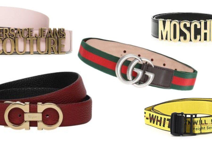 curelele de lux la mare căutare cu logo-semnătură Gucci Versace Moschino Off-White Salvatore Ferragamo