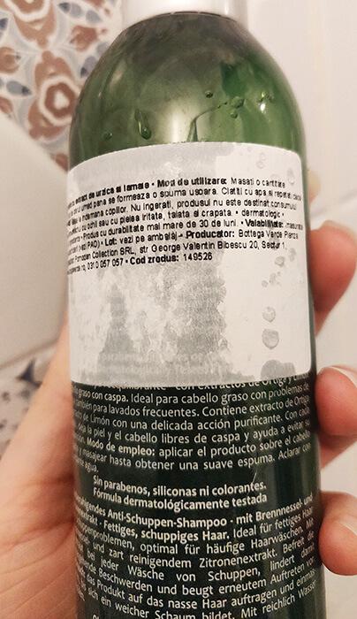 șampon antimătreață Bottega Verde Ortica e Limone_prezentare
