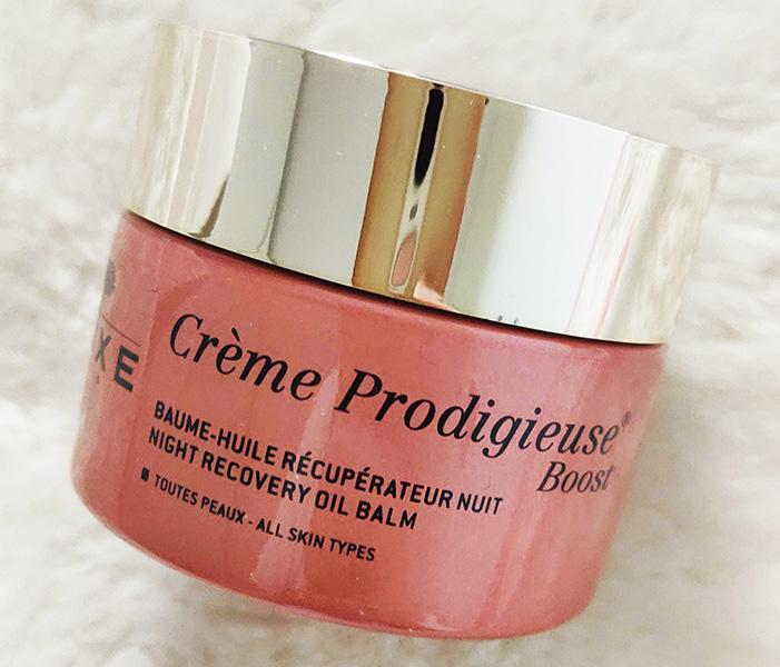 recipient cremă Nuxe Crème Prodigieuse Boost Baume Huile Récupérateur Nuit_review