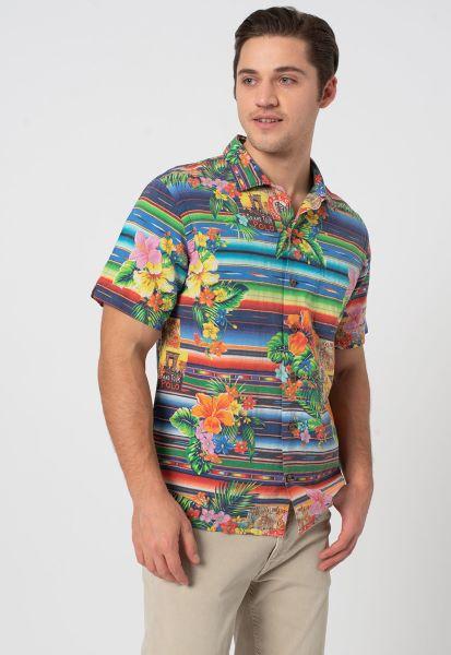 cămașă colorată cu dungi și imprimeu floral Polo Ralph Lauren pentru bărbați