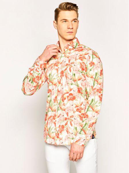 cămașă cu imprimeu floral roșu joop-jeans