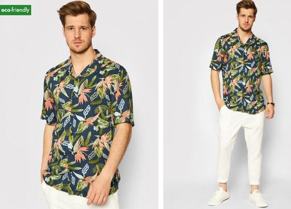 cămașă pentru bărbați cu look lejer cu imprimeu floral tropical Only & Sons